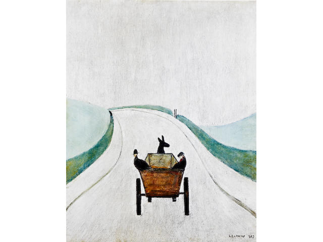 Laurence Stephen Lowry R.A. (British, 1887-1976) 'The Cart'