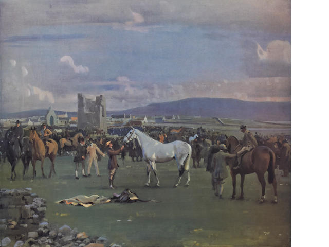 Sir Alfred James Munnings P.R.A., R.W.S. (British, 1878-1959) 'Kilkenny Horse Fair'