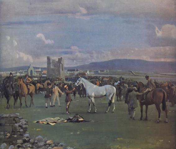 Sir Alfred James Munnings P.R.A., R.W.S. (British, 1878-1959) 'Kilkenny Horse Fair'
