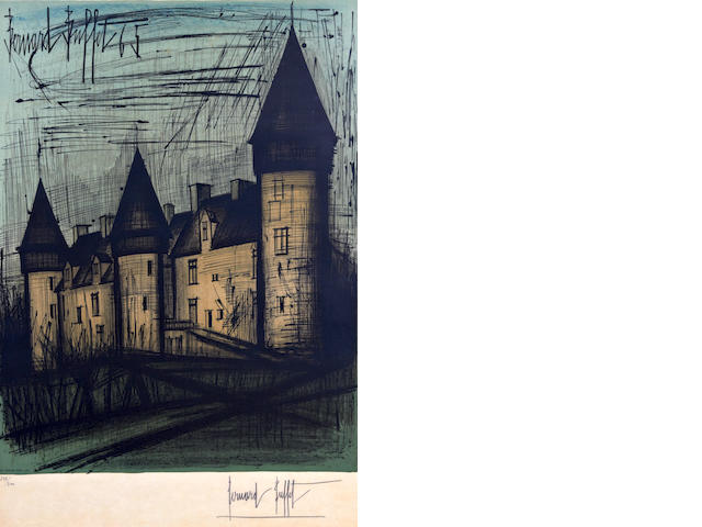 Bernard Buffet (French, 1928-1999) La Chateau de Culan