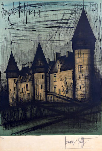 Bernard Buffet (French, 1928-1999) La Chateau de Culan