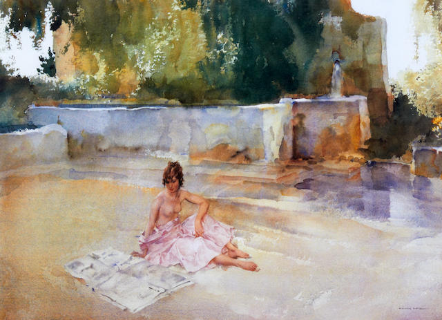 William Russell Flint (Scottish, 1880-1969) 'Carlotta on the Loire'