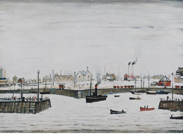 Laurence Stephen Lowry R.A. (British, 1887-1976) 'The Harbour'