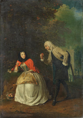 Josef van Aken (Antwerp 1709-1749 London) A courtly conversation