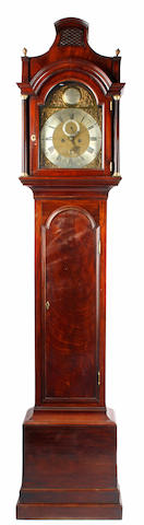 Thomas Hunter, London: a George III mahogany longcase clock