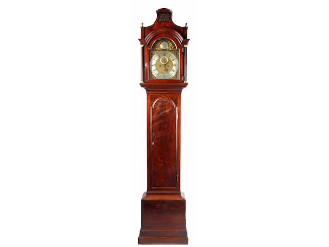 Thomas Hunter, London: a George III mahogany longcase clock