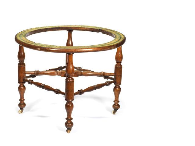 An oak Celestial globe stand