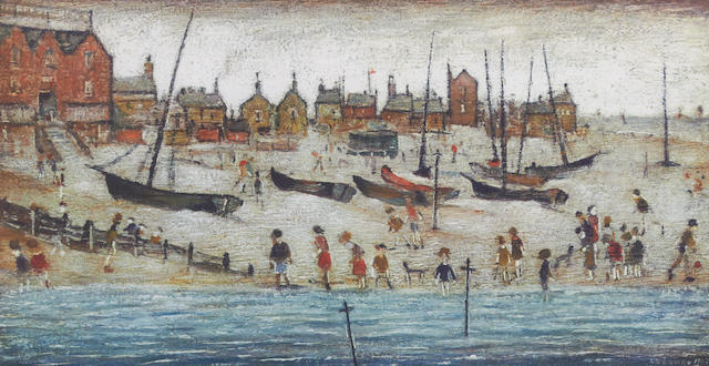Laurence Stephen Lowry R.A. (British, 1887-1976) 'The Beach'