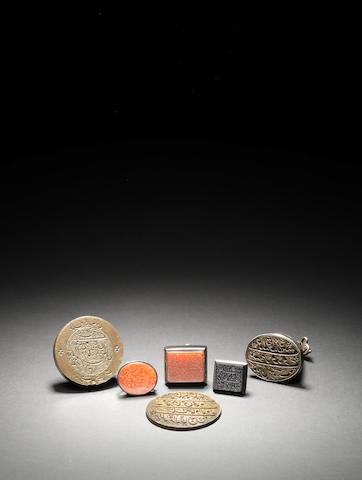A group of six seals inscribed in Persian India, 18th-20th Century(6)