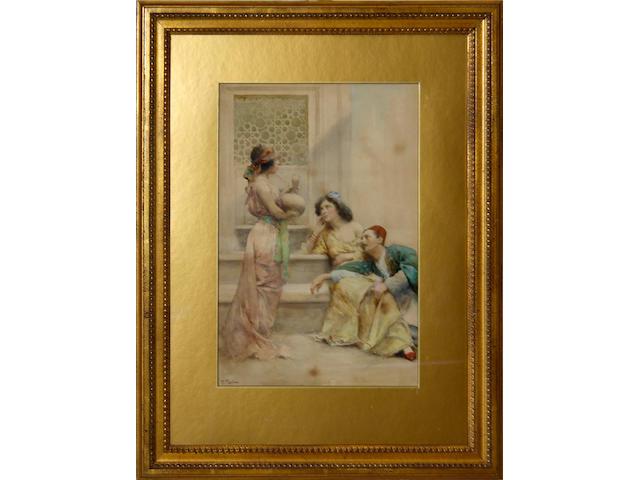 Fabio Fabbi (Italian, 1861-1946) An Orientalist interior scene