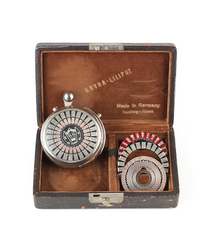 A rare Kryha-Liliput cipher machine,  German,  circa 1930,