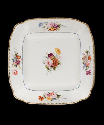 A Nantgarw dish, circa 1818-20