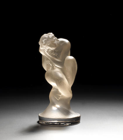 A 'Sirène' glass mascot by René Lalique, French, introduced 1920,