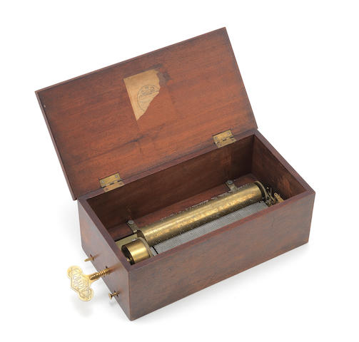 A very early key-wind musical box, playing four airs, circa 1820,