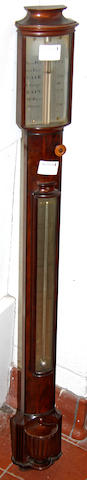 An early 19th Century mahogany stick barometer by Worthington & Allan, London