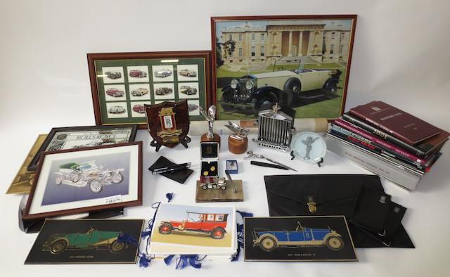 A pair of Rolls-Royce and Bentley mascots and other related collectables,