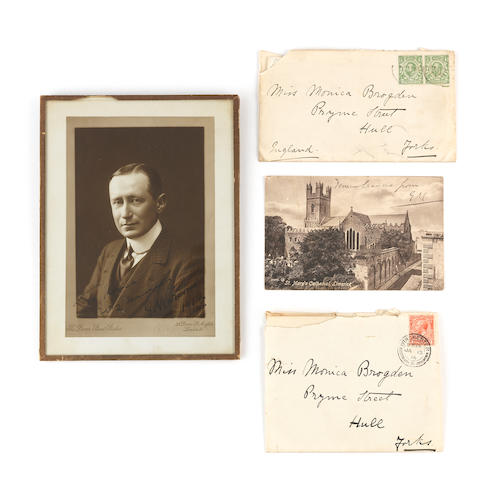 Guglielmo Marconi (1874–1937) - important autographed letters and photograph: