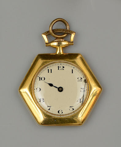 An 18ct gold open face pocket watch