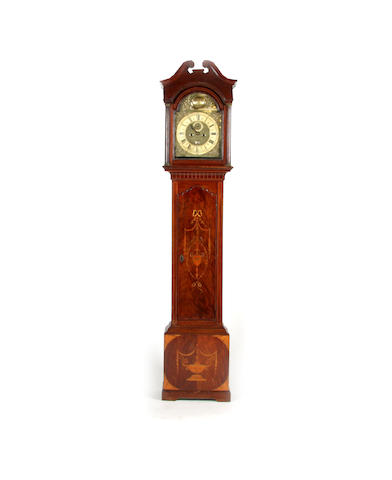 A George III and later longcase clock Inscribed B. Dammant Colchester