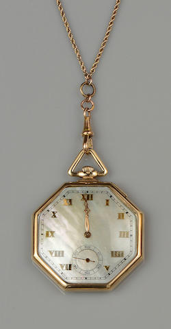 A 9ct gold open face pocket watch (2)
