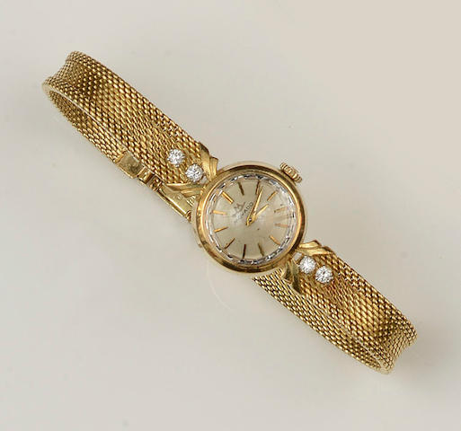 Movado: A lady's diamond set wristwatch