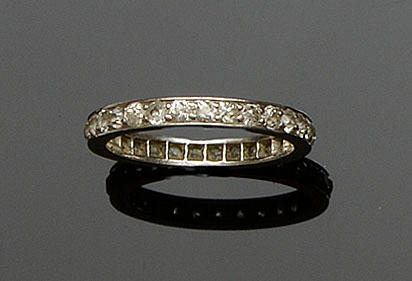 A diamond full hoop eternity ring