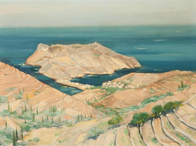 Vassilis Germenis (Greek, 1896-1966) Assos, Cefallonia 60 x 80 cm.