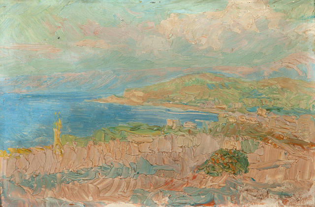 Constantinos Maleas (Greek, 1879-1928) Shore 20 x 31 cm.