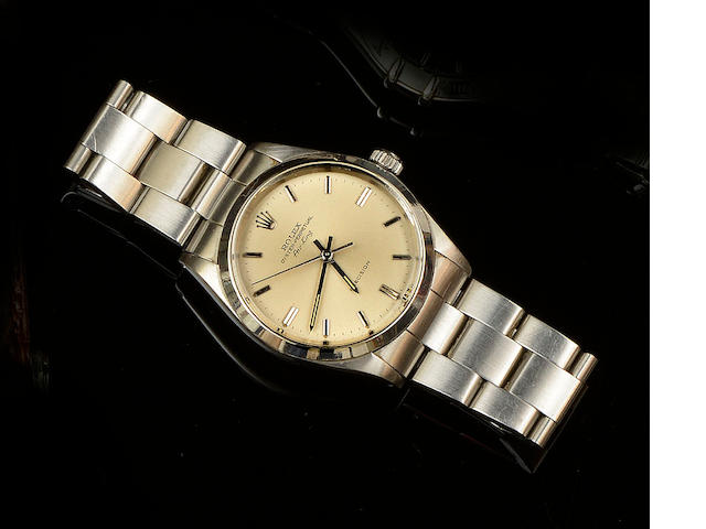 Rolex: A gentleman's Air King stainless steel automatic wristwatch