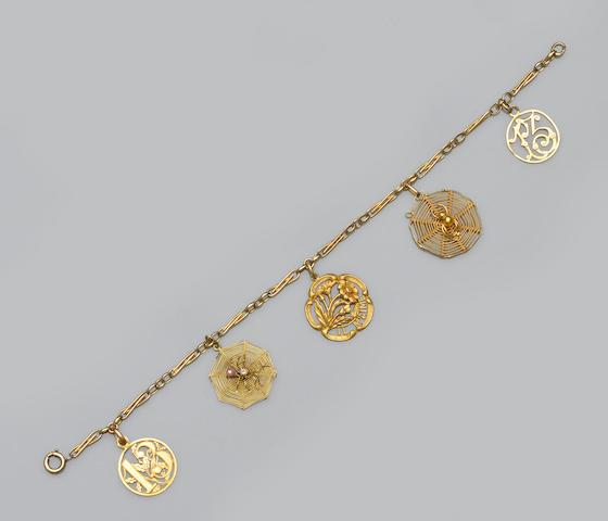 A French charm bracelet