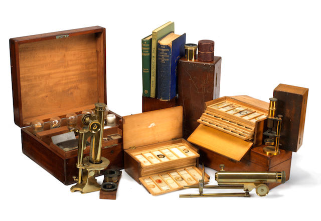 A Smith & Beck microscope slide preparation kit,  English, late 19th century,  (qty)