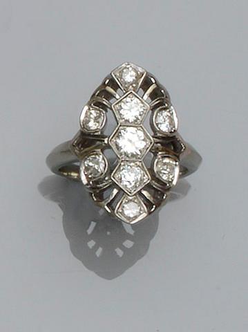 An Art Deco style diamond ring