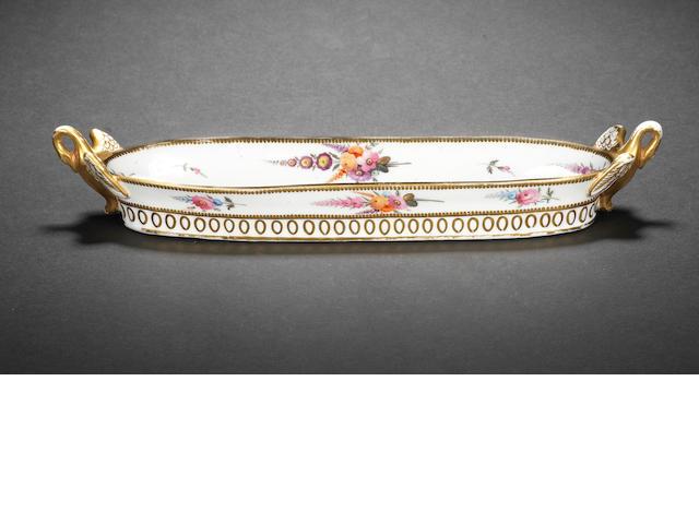 A Swansea pen tray, circa 1815-17