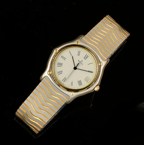 Ebel: A gentleman's stainless steel wristwatch