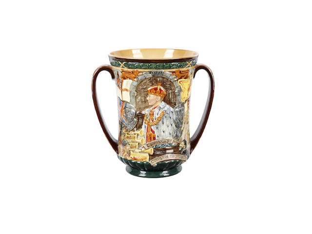 A Royal Doulton Edward VIII Coronation loving cup
