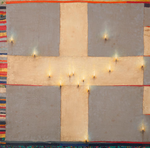 Christos Bokoros (Greek, born 1956) Patris 2012 99.5 x 99.5 cm.