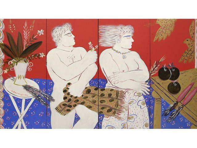 Alecos Fassianos (Greek, born 1935) Desire
