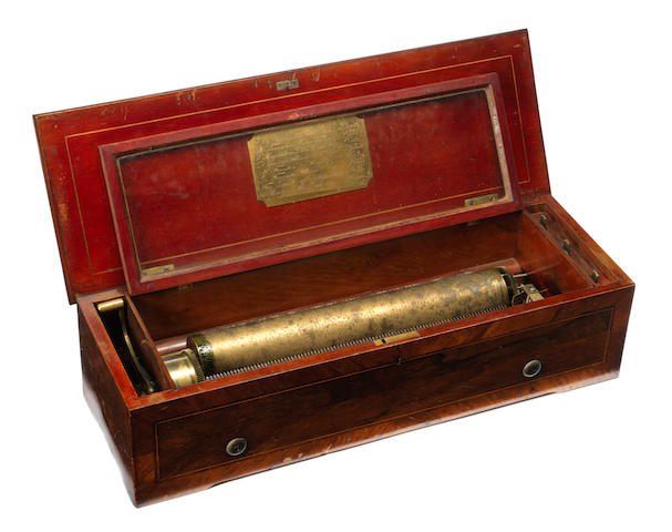 A musical box playing eight airs, circa 1880,