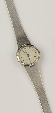 Certina: A diamond set 18ct gold lady's wristwatch