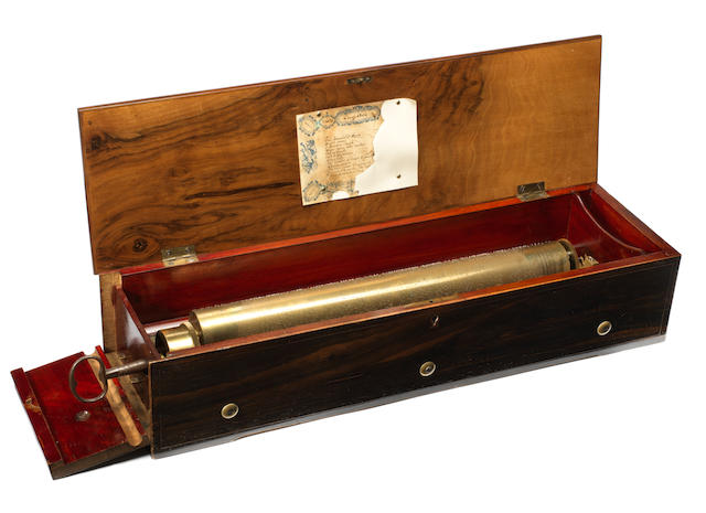 An key-wind alternate-tooth comb musical box, by B B & C, circa 1860,