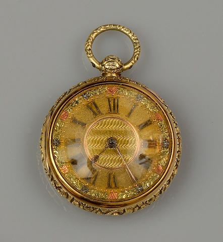 Charles Taylor, Bristol: An 18ct gold open face pocket watch