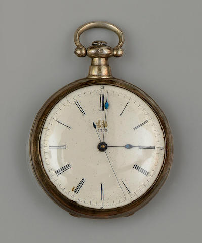 For the Chinese Market: A first half of the 19th century open face pocket watch, by Bovet Fleurier