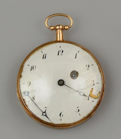 A first half of the 19th century open face pocket watch