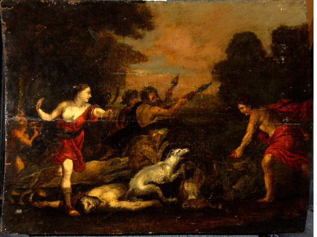 Follower of Tiziano Vecellio, called Titian (Pieve-di-Cadore 1485-1576 Venice) Diana the huntress (unframed)