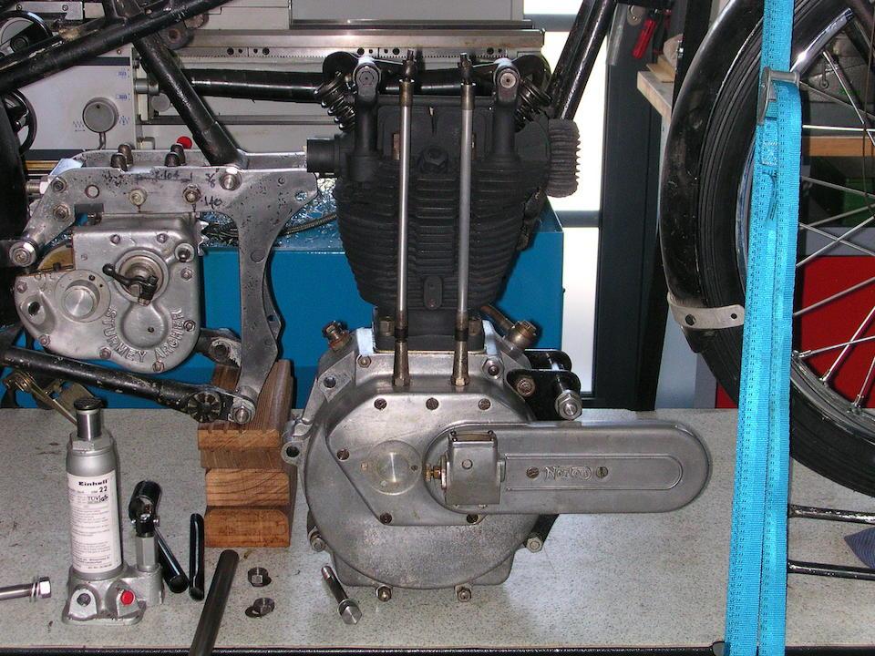 c.1933 Cotton-Norton 490cc Racing Motorcycle Engine no. 42509