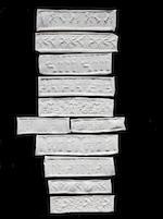 Eleven Mesopotamian hardstone cylinder seals 11
