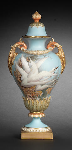 A Royal Worcester vase and cover by Charley Baldwyn, dated 1906