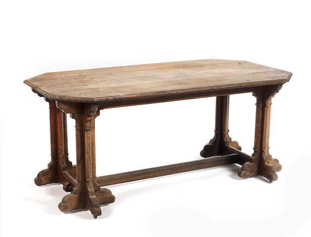 A Victorian carved oak centre tableattributed to A.W.N.Pugin