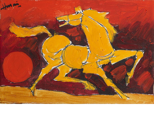 Maqbool Fida Husain (India, 1915-2011) Untitled (Horse),
