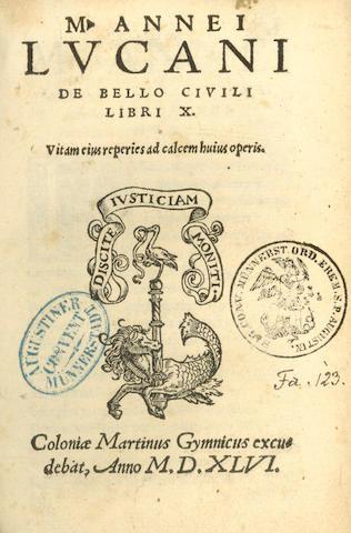 LUCANUS (MARCUS AENEAS) De bello civili libri X, 1546